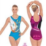 Eurotard Adult Peacock Gymnastics Tank Leotard - You Go Girl Dancewear