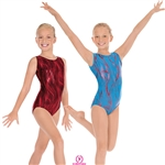 Eurotard Holographic Wind Child Gymnastics Tank Leotard - You Go Girl Dancewear
