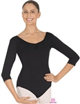 Eurotard Adult Pinch Front and Back 3/4 Sleeve Leotard