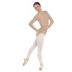 Eurotard Plus Size Nude Long Sleeve Leotard, 4X, 5X - 44265P