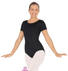 Eurotard Adult MicroValue Short Sleeve Leotard - You Go Girl Dancewear