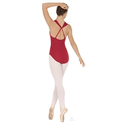 "Eurotard Adult Twisted ""A"" Line Halter Leotard"