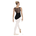 Eurotard Adult Diamond Mesh Pinch Front Tank Leotard - You Go Girl Dancewear