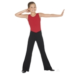 "Eurotard Child Cotton Low Rise ""V"" Front Jazz Pants - You Go Girl Dancewear"