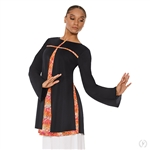 Eurotard Womens Fire and Rain Split Layer Tunic - You Go Girl Dancewear