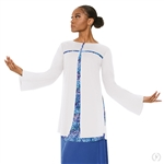 Eurotard Girls Fire and Rain Split Layer Tunic - You Go Girl Dancewear