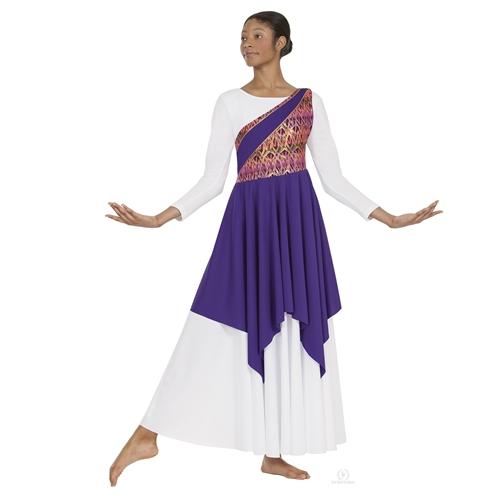 a537a49351f Eurotard Adult Joyful Praise Dance Asymmetrical Tunic