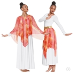 Eurotard Ignited Glory Handkerchief Skirt and Drape Overlay - You Go Girl Dancewear
