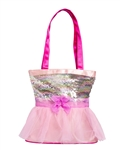 Horizon Dance Tutu Cute Dance Tote – Silver/Pink - You Go Girl Dancewear