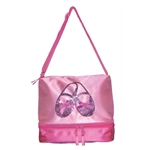 Horizon Dance Satin & Sequins Ballet Slipper Tote – Pink - You Go Girl Dancewear