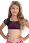 Idea Kids Crop Fishnet Top