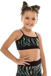 Idea Kids Zebra Bandeau Sequin Cami Top
