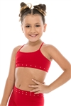 Idea Kids Low Lead Rhinestone Bandeau Cami Top