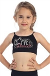 Idea Kids Love Dance Stud Sequin Bra Cami