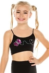 Idea Kids Butterfly Sequin Bra Cami
