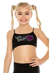 Idea Kids Love Dance Sequin Bra Cami