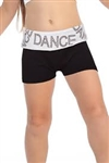 Idea Kids Dance Sequin Foldover Boy Shorts