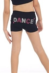 Idea Kids Dance Sequin & Stud Boy Shorts