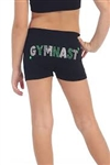 Idea Kids Gymnast Sequin & Stud Boy Shorts