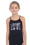Idea Kids Love Sequin & Dance Stone Cami