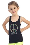 Idea Kids Multi-Colored Peace Stud Racerback Tank
