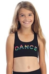 Idea Kids Flouro Nailhead Dance Sports Top