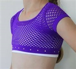 Idea Kids Rhinestone Fishnet Crop Top