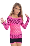 Girls Basic Fishnet Top - You Go Girl Dancewear