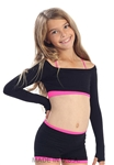 Kids Long Sleeve Crop Top with Finger Holes