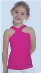 Kids off shoulder tank top - You Go Girl Dancewear