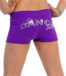 "Sequined ""Dance"" Shorts"
