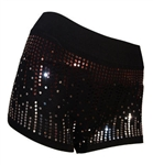 Two Tone Sequin Shorts