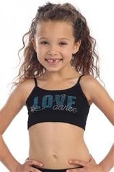 KIDS LOVE DANCE STUD CAMI BRA TOP - You Go Girl Dancewear