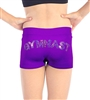 "Sequined ""GYMNAST"" Shorts"