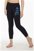 LOVE DANCE STUD CALF LEGGINGS - You Go Girl Dancewear