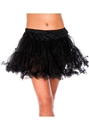 Plus Size Women's Double Layered Mesh Petticoat Tutu Skirt