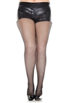 Plus Size Fishnet Seamless Spandex Tights