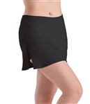 Motionwear Womens Plus Size Side Slit Skirted Dance Shorts