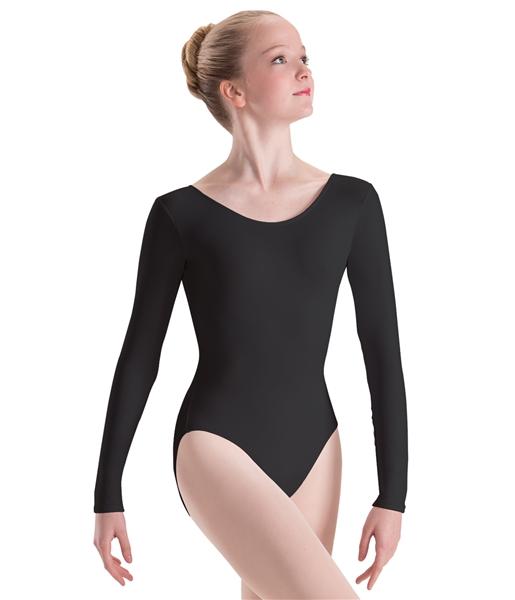 GirlsWalk Womens Long Sleeves Wetlook Bodysuit Leotard Top