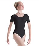 Motionwear Womens Plus Size Short Sleeve Dance Leotard