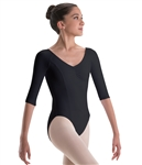 Motionwear Womens Plus Size Raglan 3/4 Sleeve Leotard