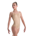 Motionwear Adult Plus Size Convertible Strap Leotard with Removable Padded Cups, 1X, 2X, 3X