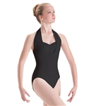 Motionwear Womens Overlay Halter Leotard