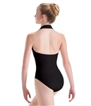 Motionwear Adult Long Torso Overlay Halter Leotard