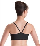Motionwear Womens Plus Size V-Back Strap Camisole Bra Top