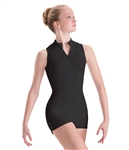 Motionwear Adult Zip Front Mock-T Biketard