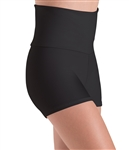 Motionwear Womens Plus Size Higher Waist Shorts