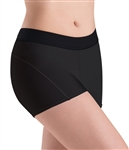 Motionwear Womens Plus Size Plush Elastic Waistband, Flatlock Shorts
