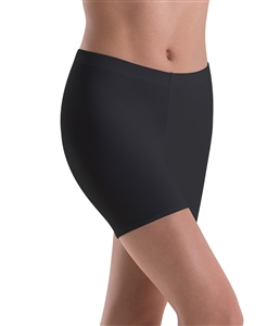 Motionwear Womens Plus Size Low-Rise Bike Length Shorts