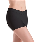 Motionwear Womens Plus Size V-Waist Shorts